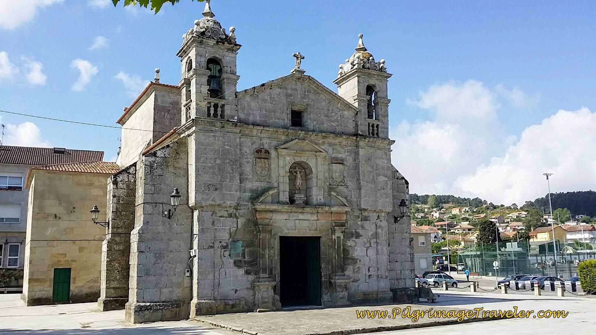 The Plaza Santa Liberata in Baiona on day twenty, Camino Portugués da Costa