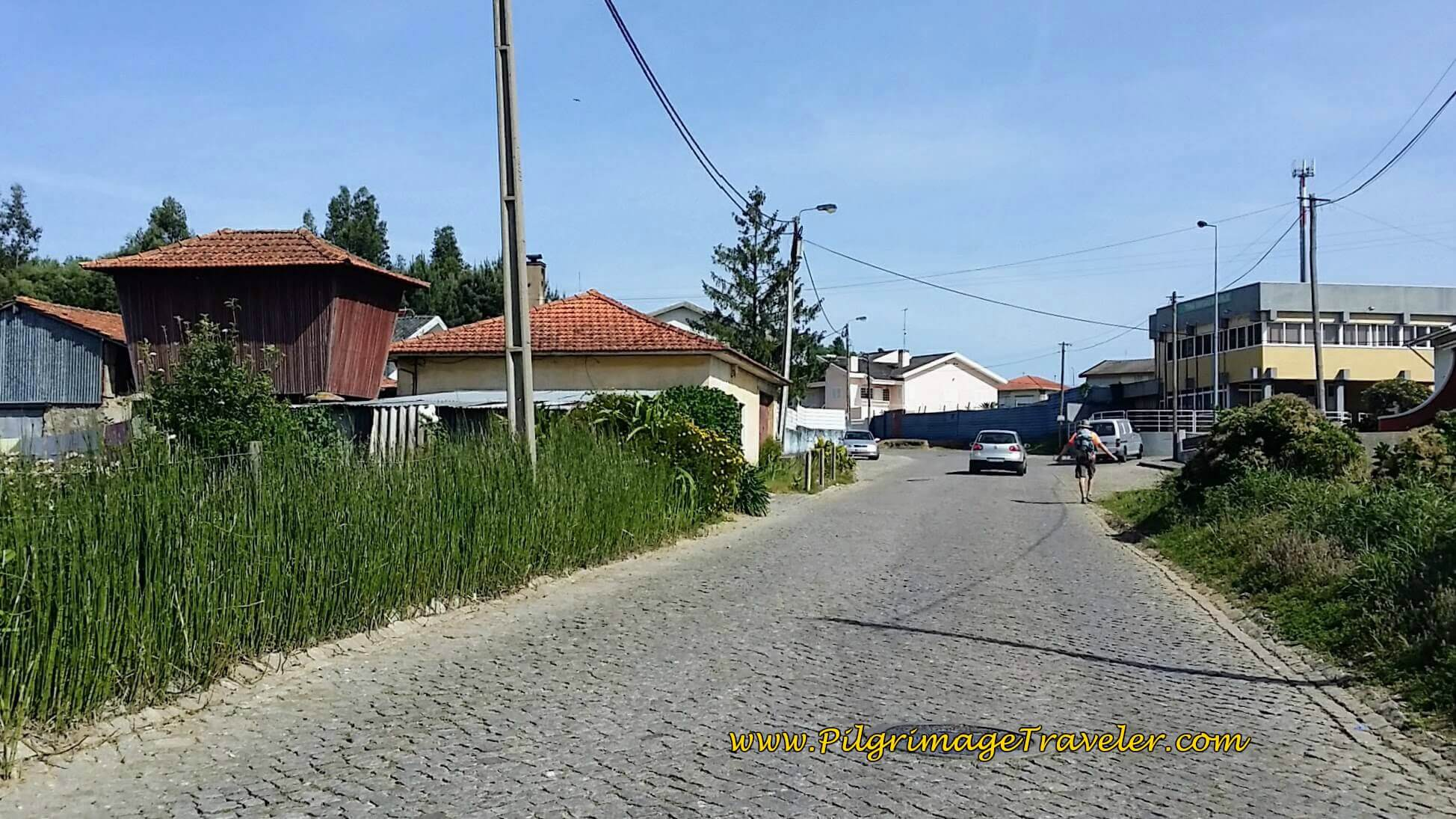 Approaching Grijó in Padrão on the Rua Ermo on day fourteen of the Portuguese Way