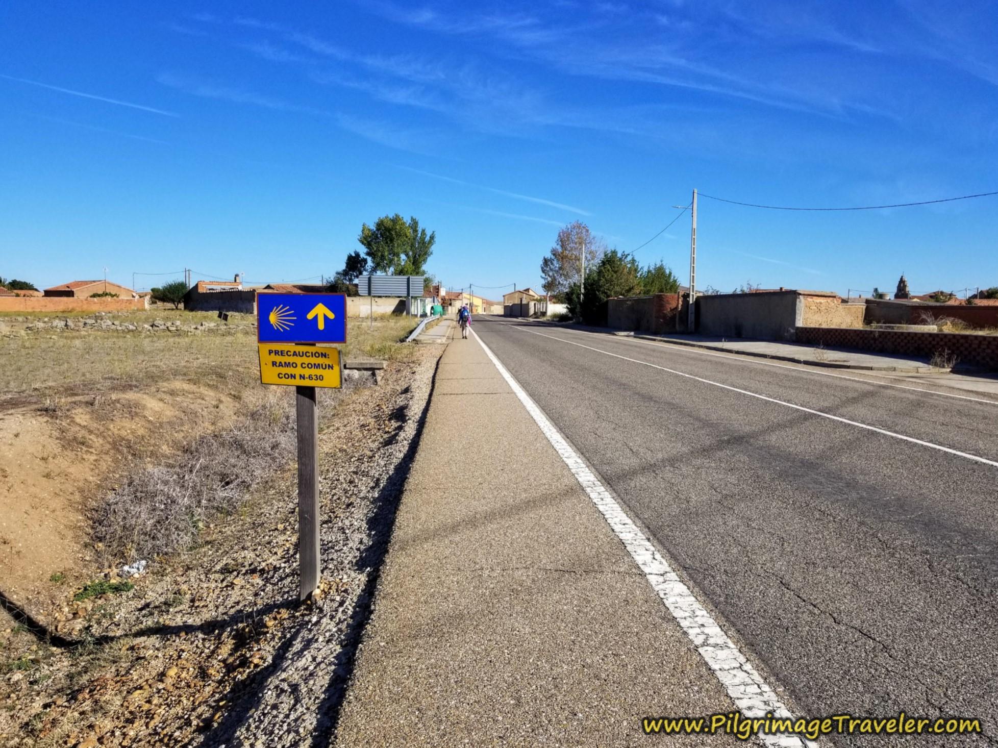Take the N-630 Into Riego del Camino