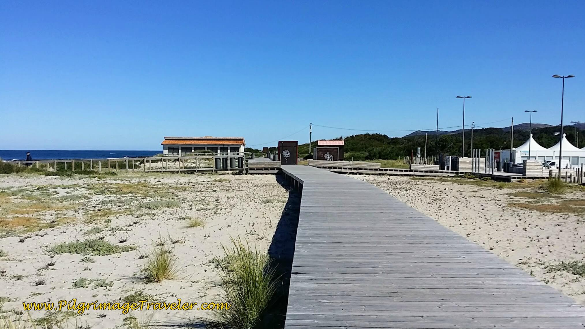 Afife Beach Boardwalk on day eighteen of the Portuguese Way on the Senda Litoral