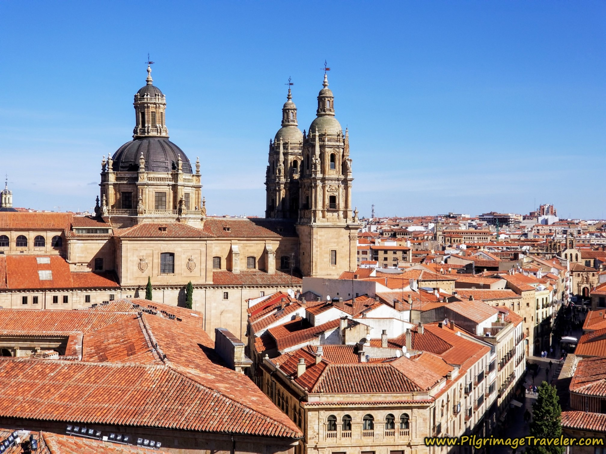 Iglesia de la Clerecía, from the New Cathedral Rooftop, Salamanca