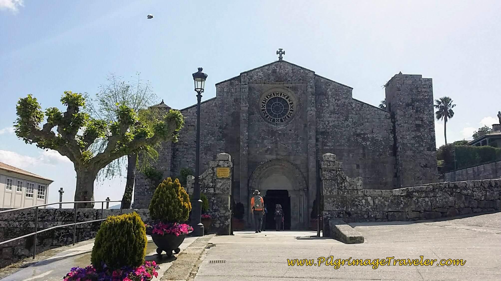 Parroquia de Santa María de Baiona on day twenty, Camino Portugués da Costa