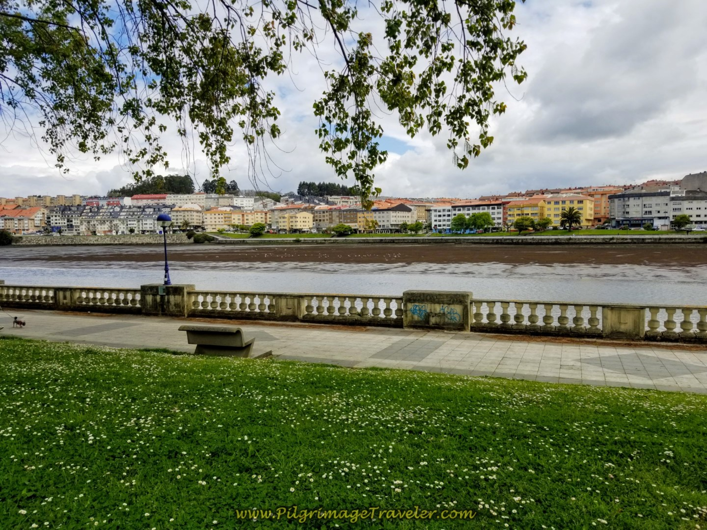 Last Look at the Paseo da Ria do Burgo on day one of the La Coruña Arm of the Camino Inglés