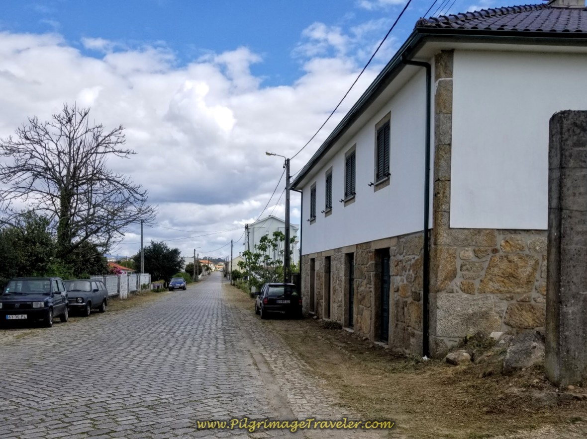 Rua da Veiga towards Valença on day nineteen on the Central Route of the Portuguese Camino