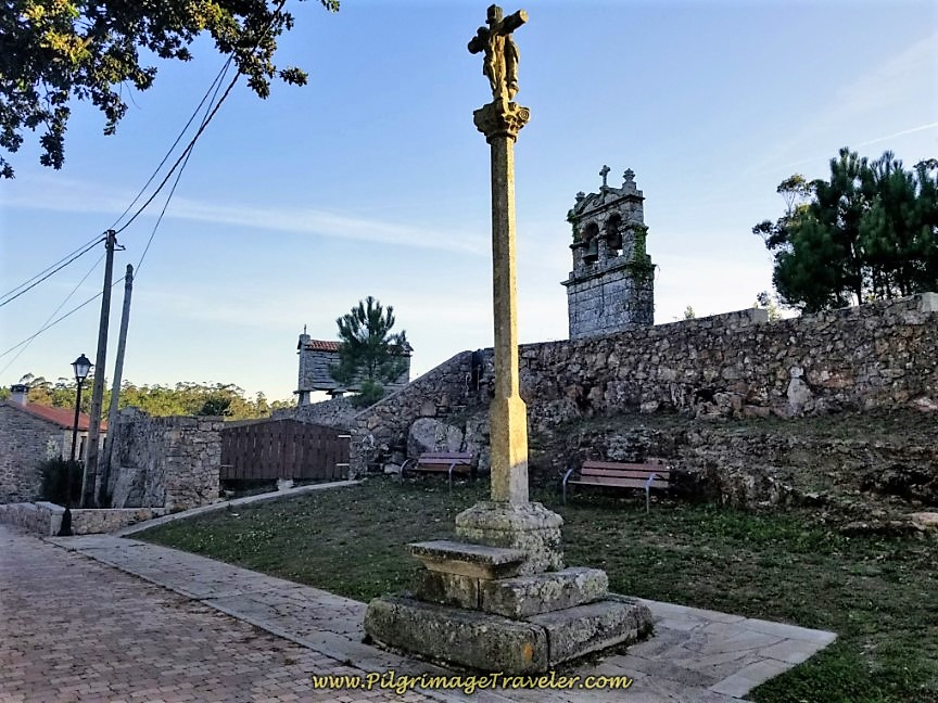 Cruceiro and Bell Tower of San Ciprian de Vilastose