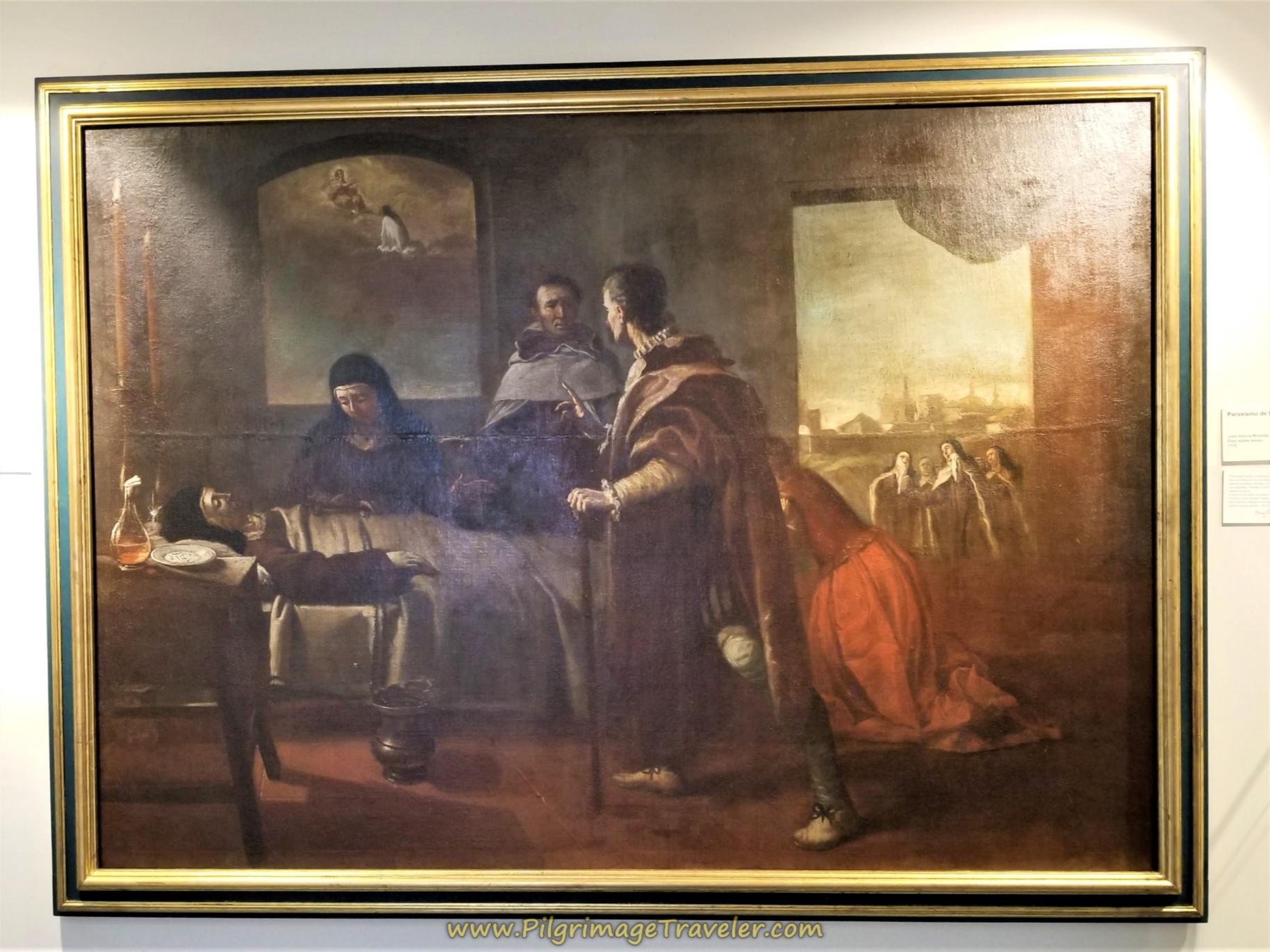 Painting of Funerary Scene of St. Teresa, Museo Carmelitano