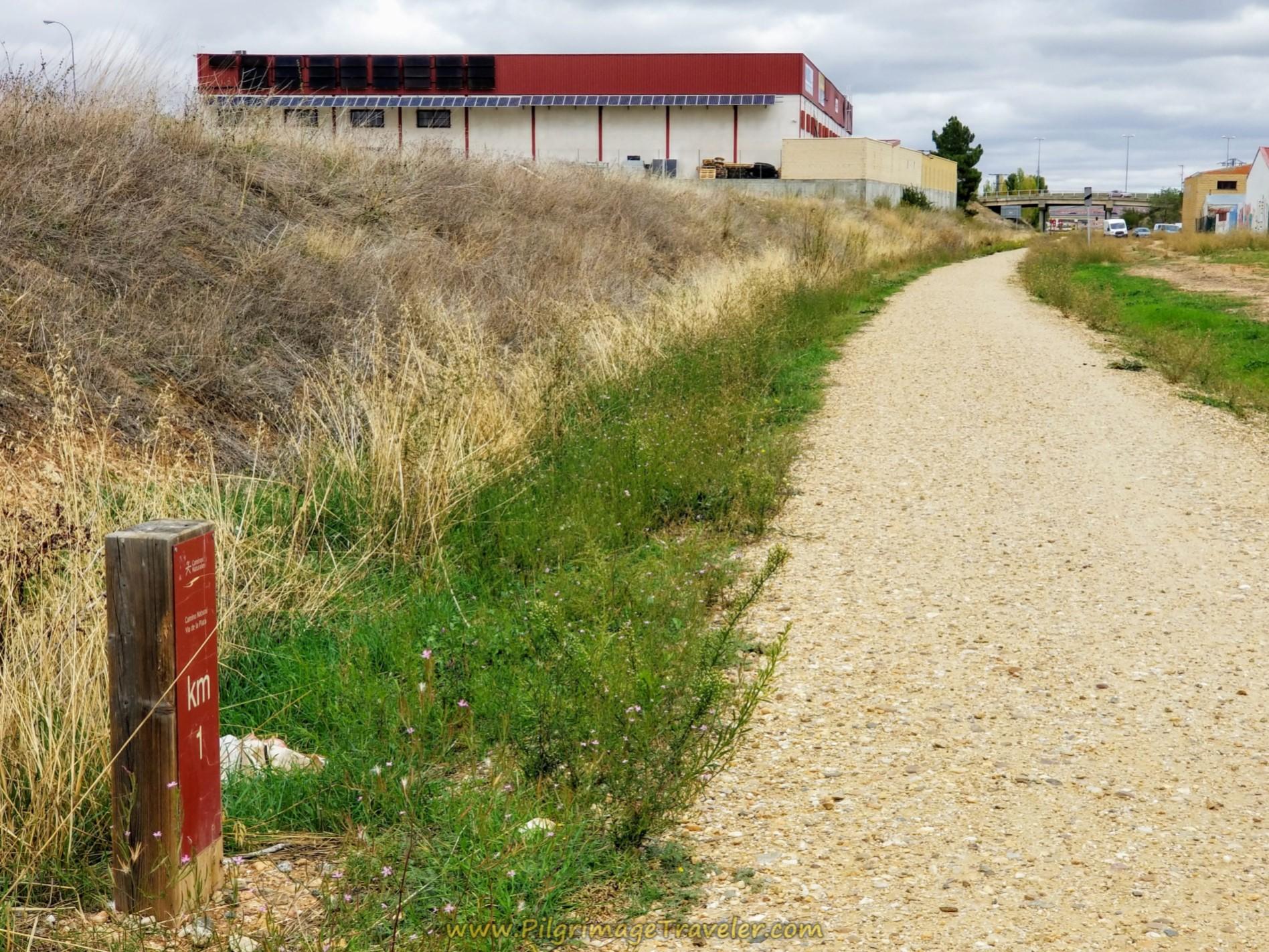 One Kilometer to Go on the Camino Natural Vía de la Plata