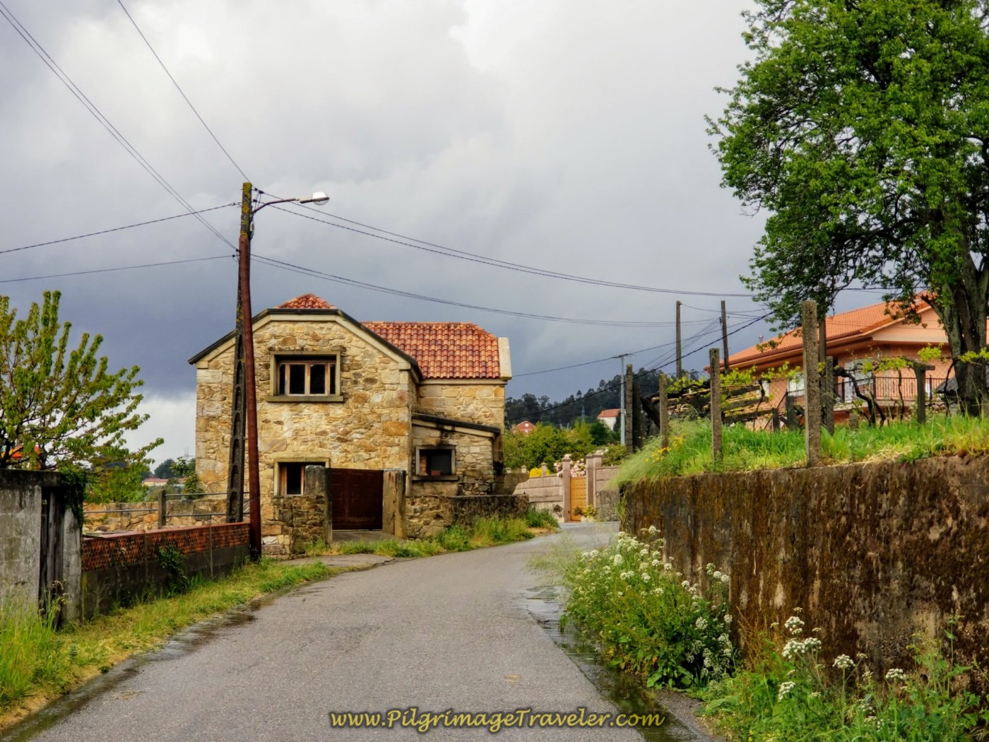Sun Attempts to Break Through on Country Home on day twenty-one of the central route of the Portuguese Camino