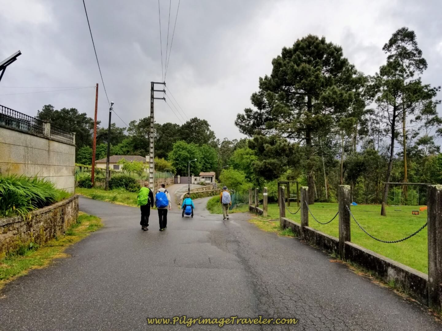 Winding Around the Town of A Magdalena on day twenty on the central route of the Portuguese Camino