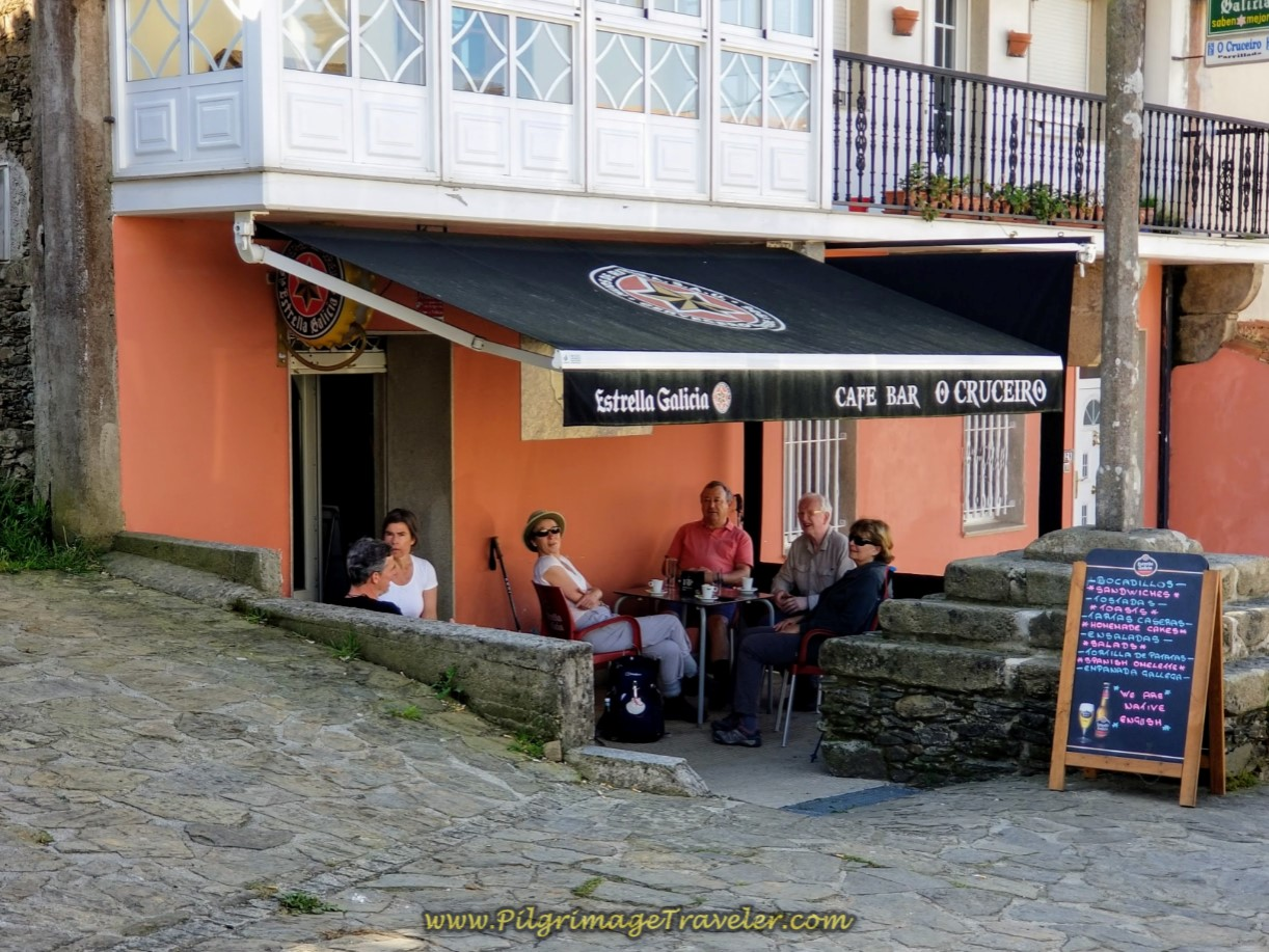 Café Bar O Cruceiro in A Calle on day seven of the Camino Inglés