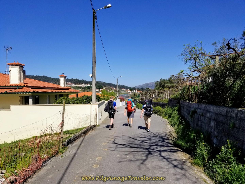 Left Turn on the Street Called the Caminho de Santiago