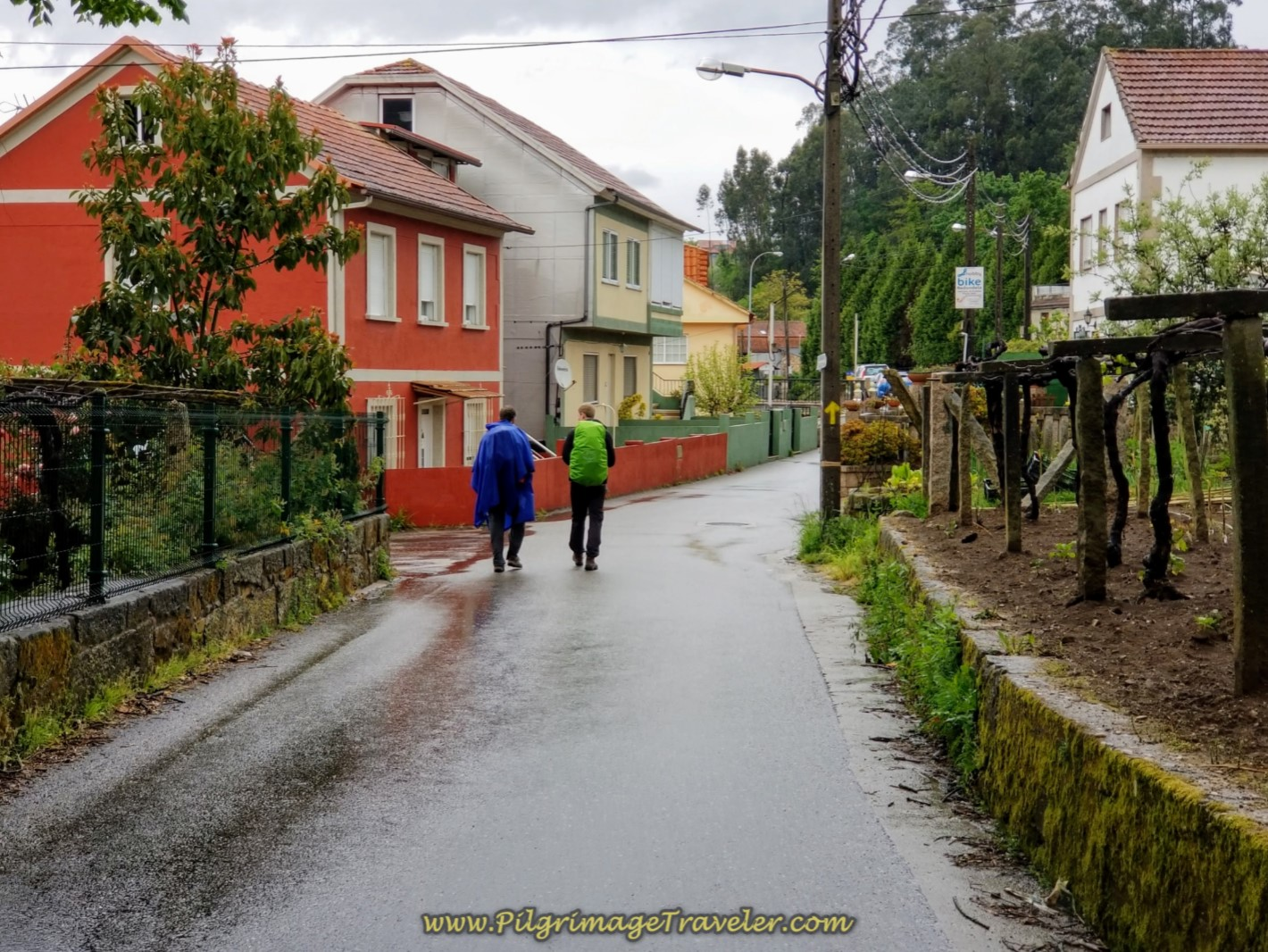 Walking Through the Suburbs of Redondela on day twenty-one of the central route of the Portuguese Camino