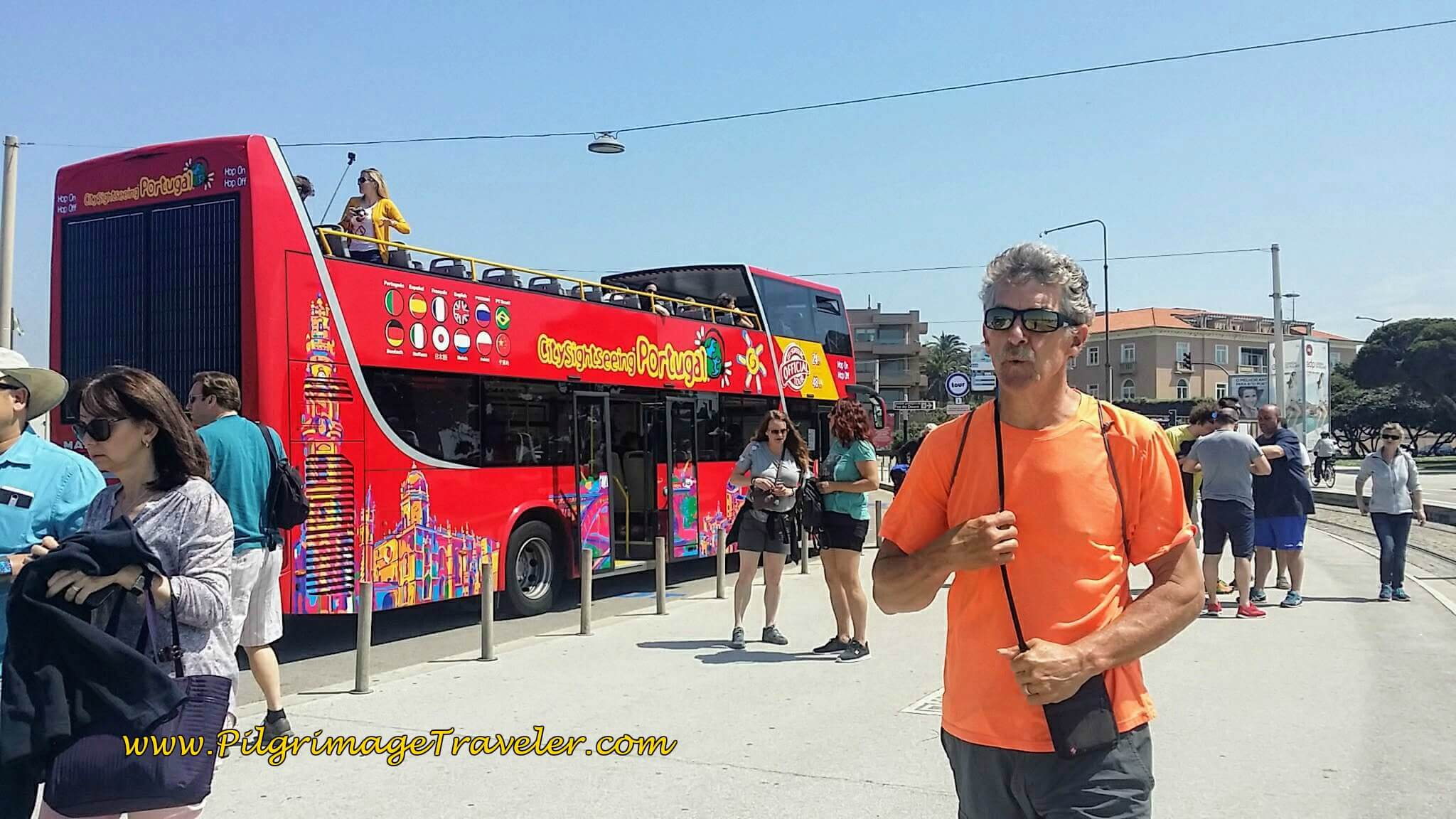 Rich and the Red Line Hop On Hop Off Tourist Bus in Porto, Portugal