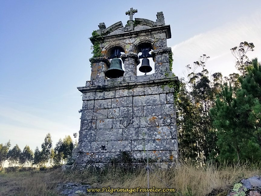 Bell Tower San Ciprian de Vilastose on day three of the Camino Finisterre to Muxía