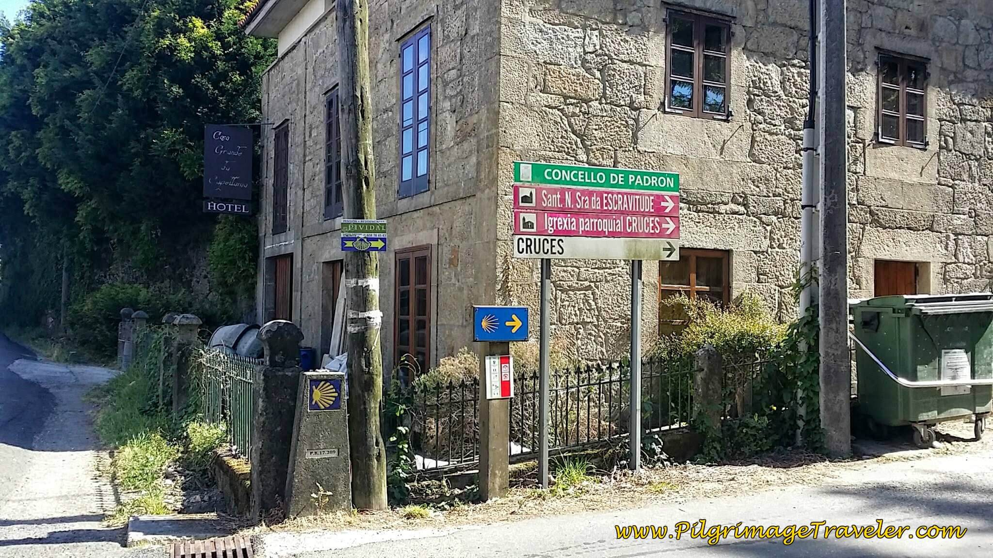 Turn Right Here in the Direction of Cruces on Day Twenty-Four, Portuguese Camino