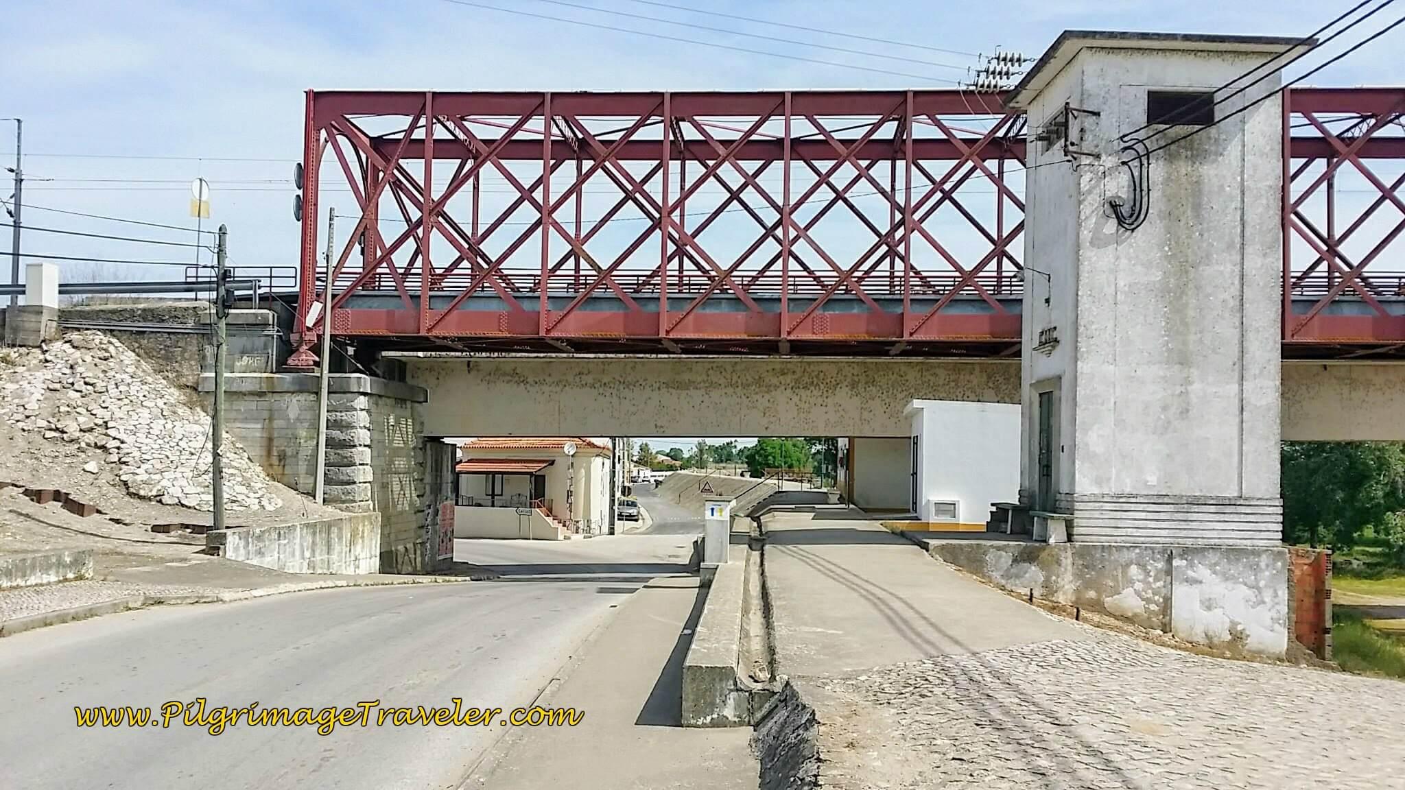 The Bridge across the Río Tejo in Porto Muge