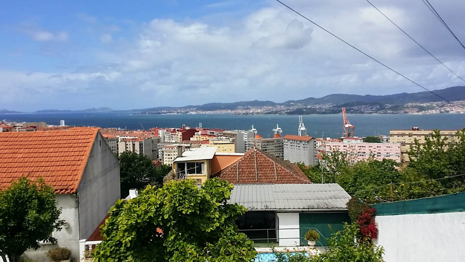 View of the Ría de Vigo, Spain on day twenty-one of Portuguese Way