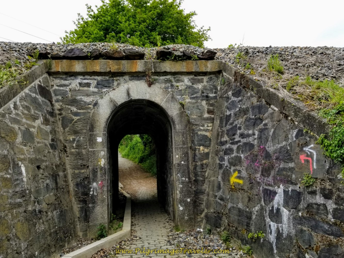 Walk Under the Railway on day one of the Camino Inglés