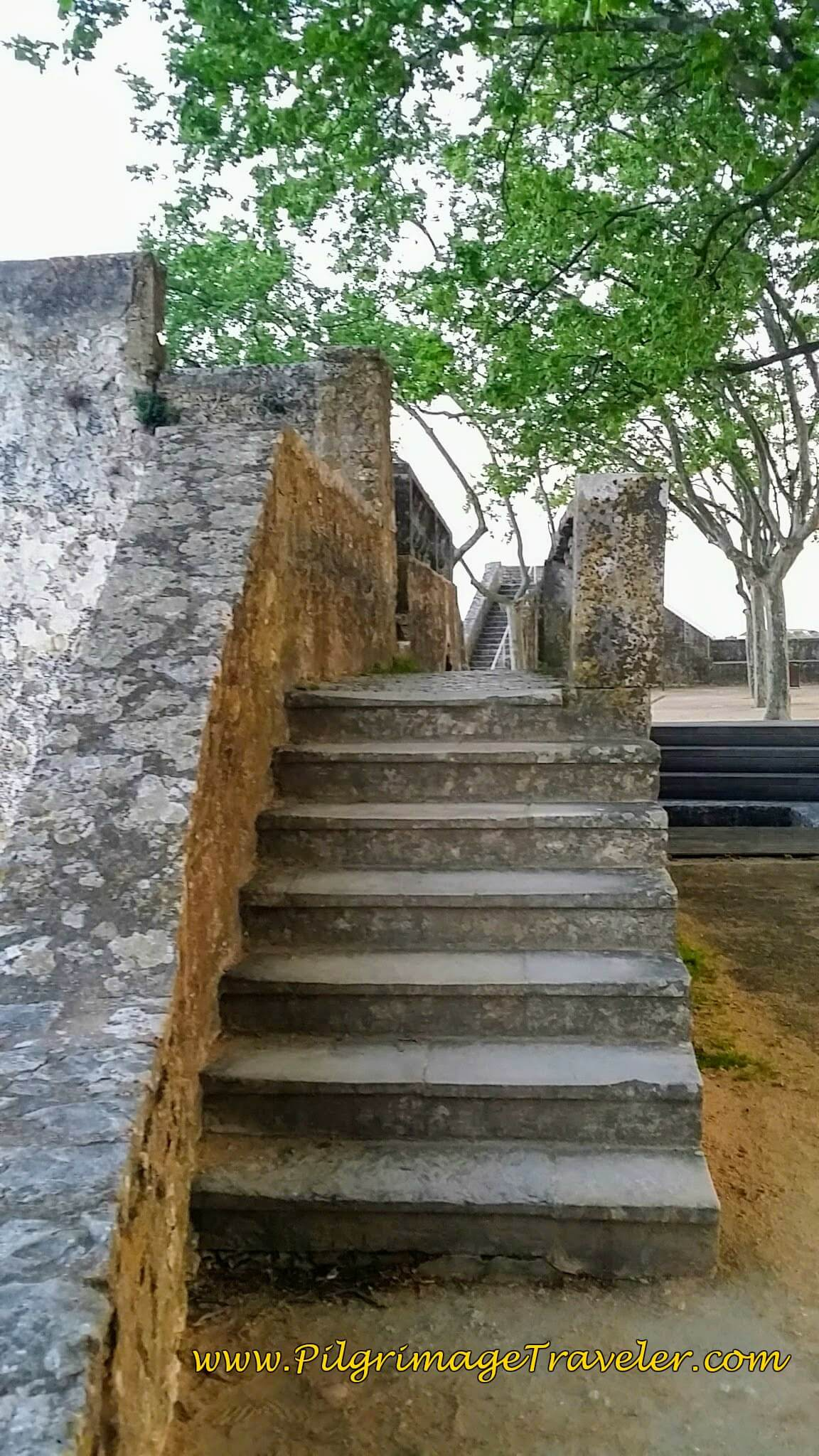 Stairs Leading to the Ramparts Overlooking the Tagus River