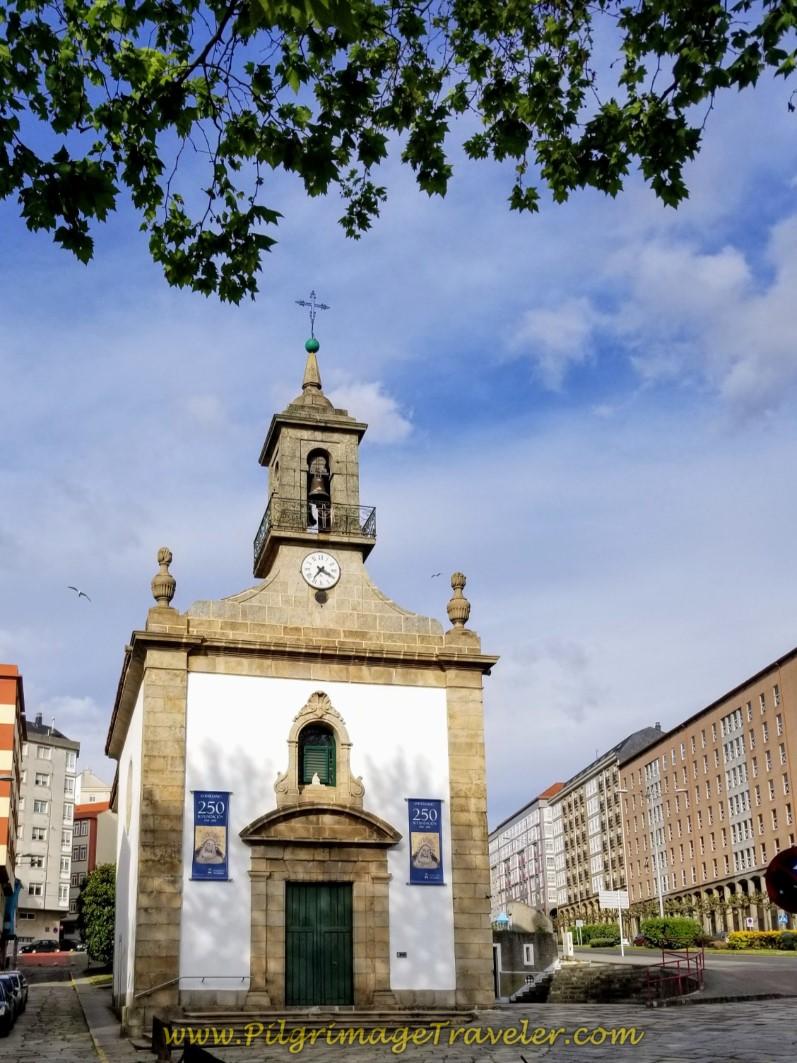 Santuario de Nosa Señora das Angustias Claretianos on day one of the Camino Inglés
