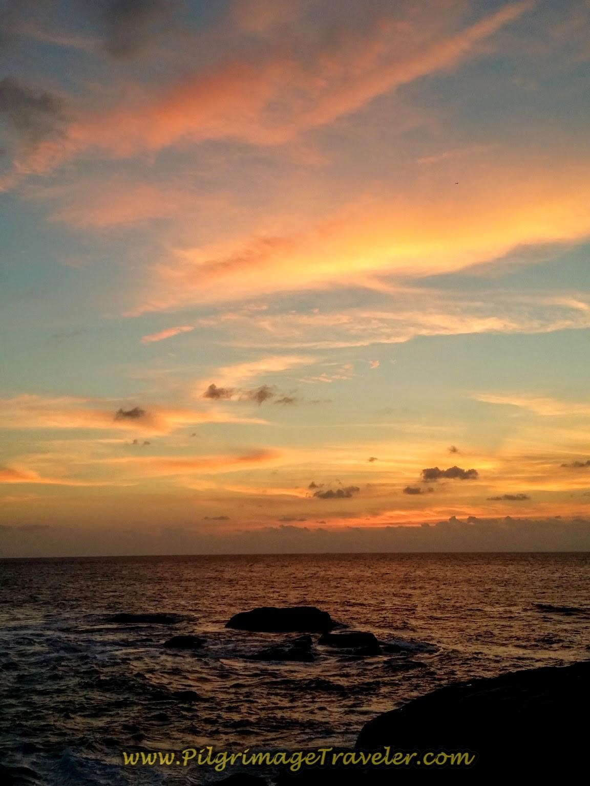 Capturing the Final Moment of the Muxía Costa da Morte Sunset