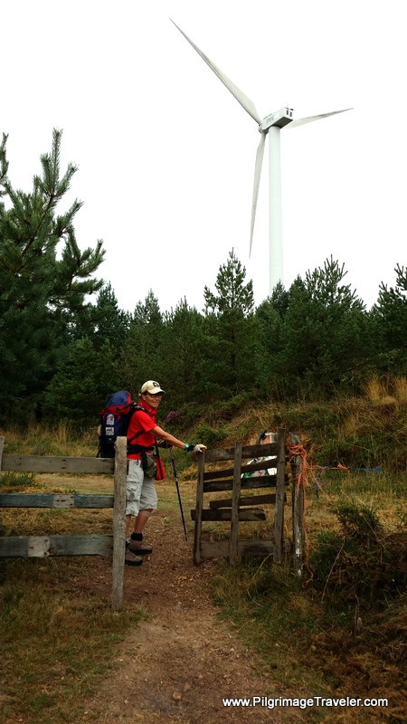 A Windmill Close Enough to Touch on the Camino Primitivo