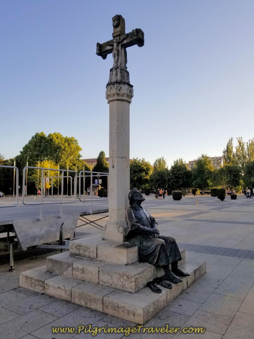 Pilgrim's Statue, Official Start of the Camino de San Salvador in León