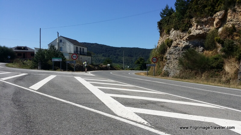 The Fork in the Highway Towards A Lastra on the Camino Primitivo