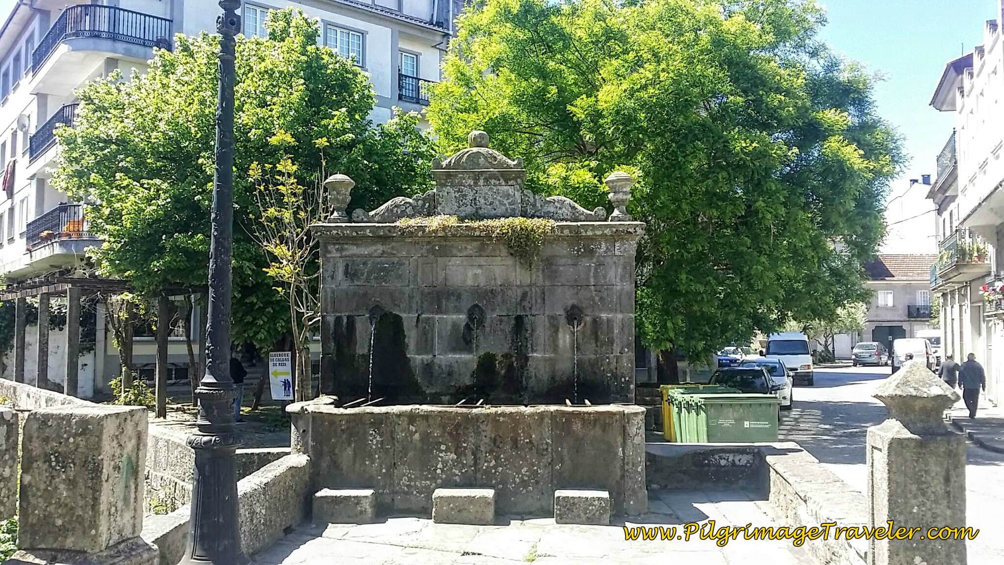Old Fountain after the Puente Romano in Caldas de Reis on day twenty-three, Camino Portugués