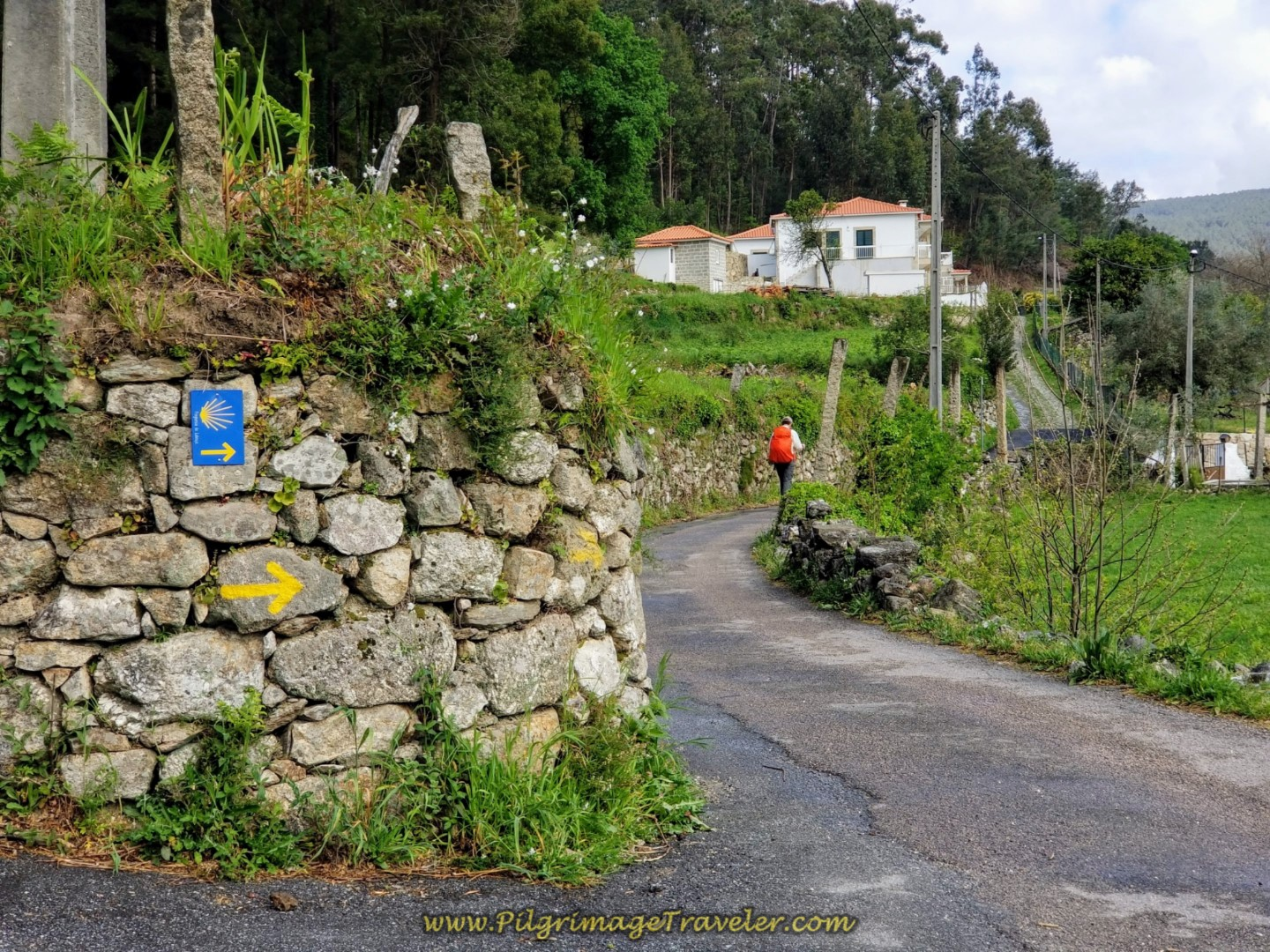 Onward Past the Albergue on day eighteen on the Central Route of the Portuguese Camino