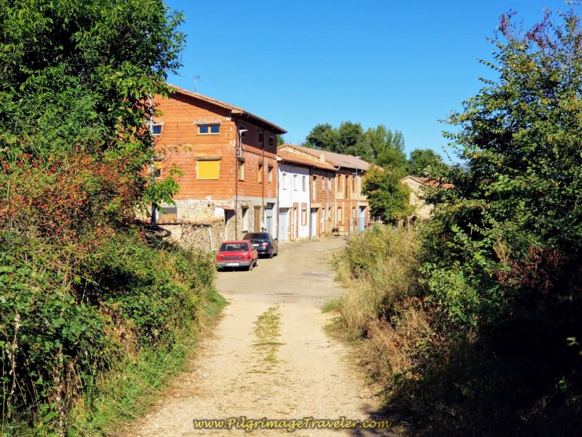 Entering Cabanillas on day one of the Camino de San Salvador