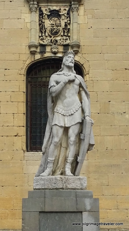 Statue of Alfonso II, the Chaste, Oviedo, Spain