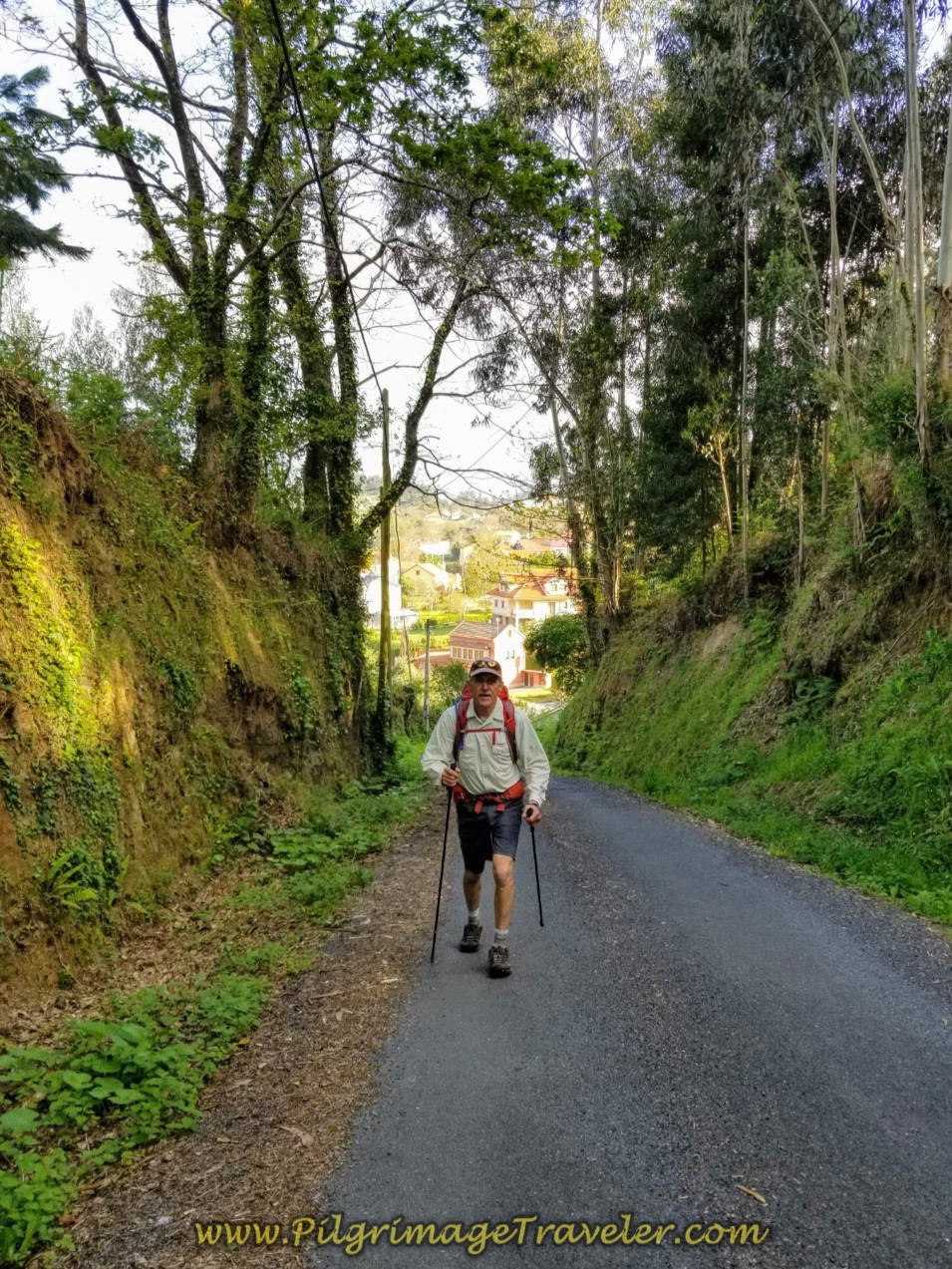Rich Climbing on Steep Lane on day four of the Camino Inglés