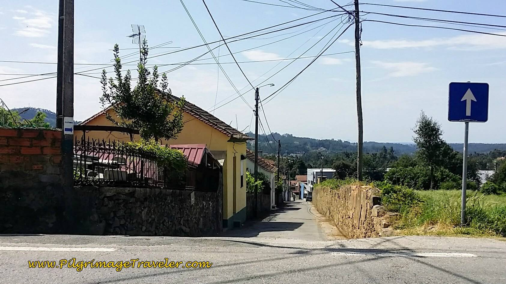 Look Back on Actual Route We Missed on day thirteen of the Camino Portugués