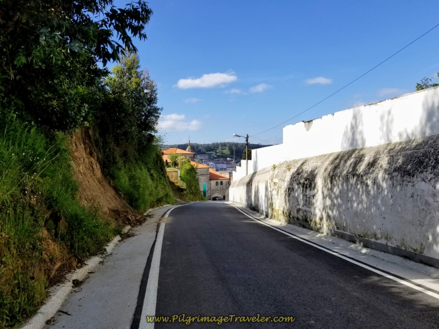 Pass the Cemetery of the Santuario de Nosa Señora do Camiño in Betanzos on day four of the English Way