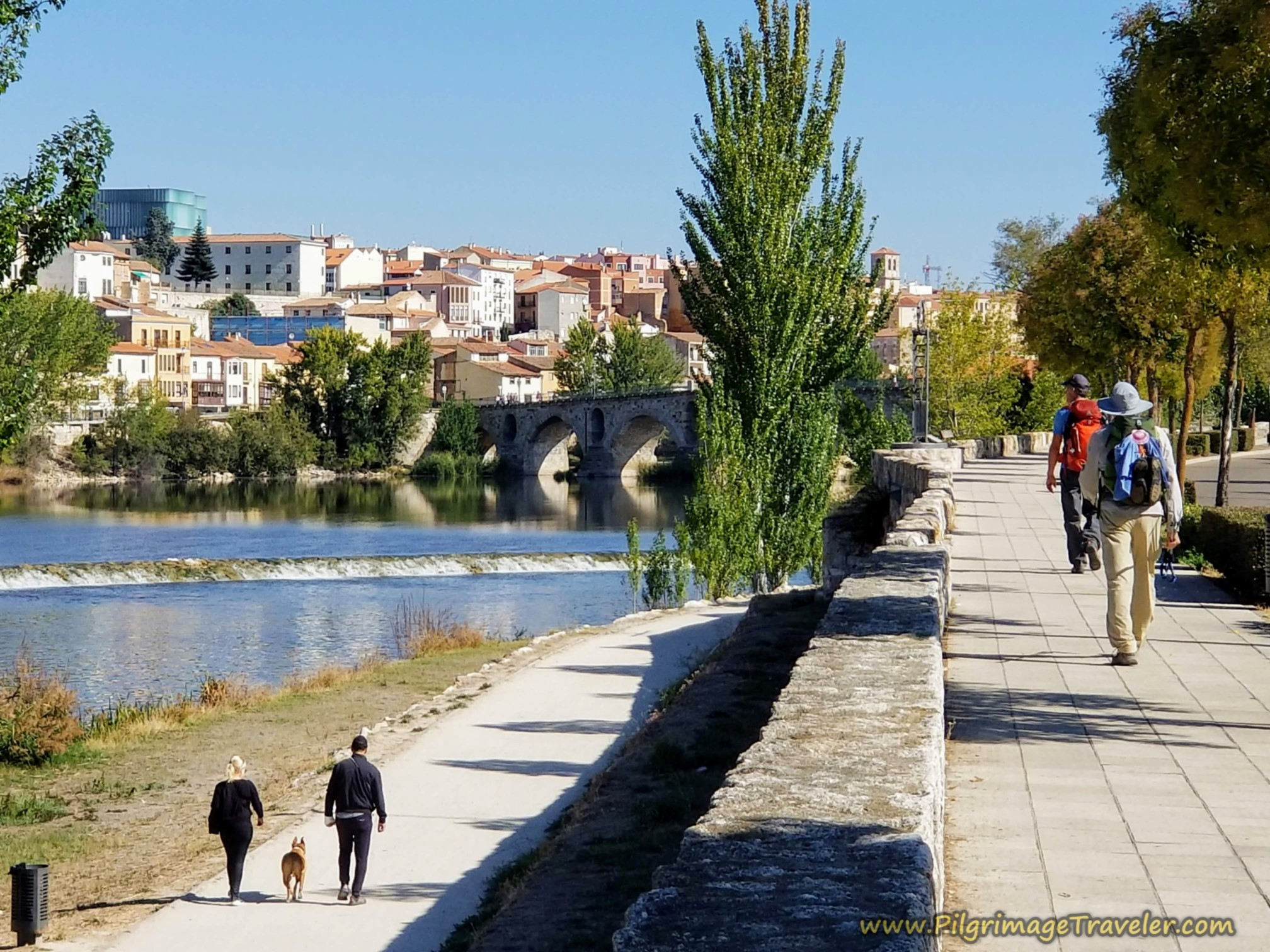 Street Promenade and Footpath Along the Douro River