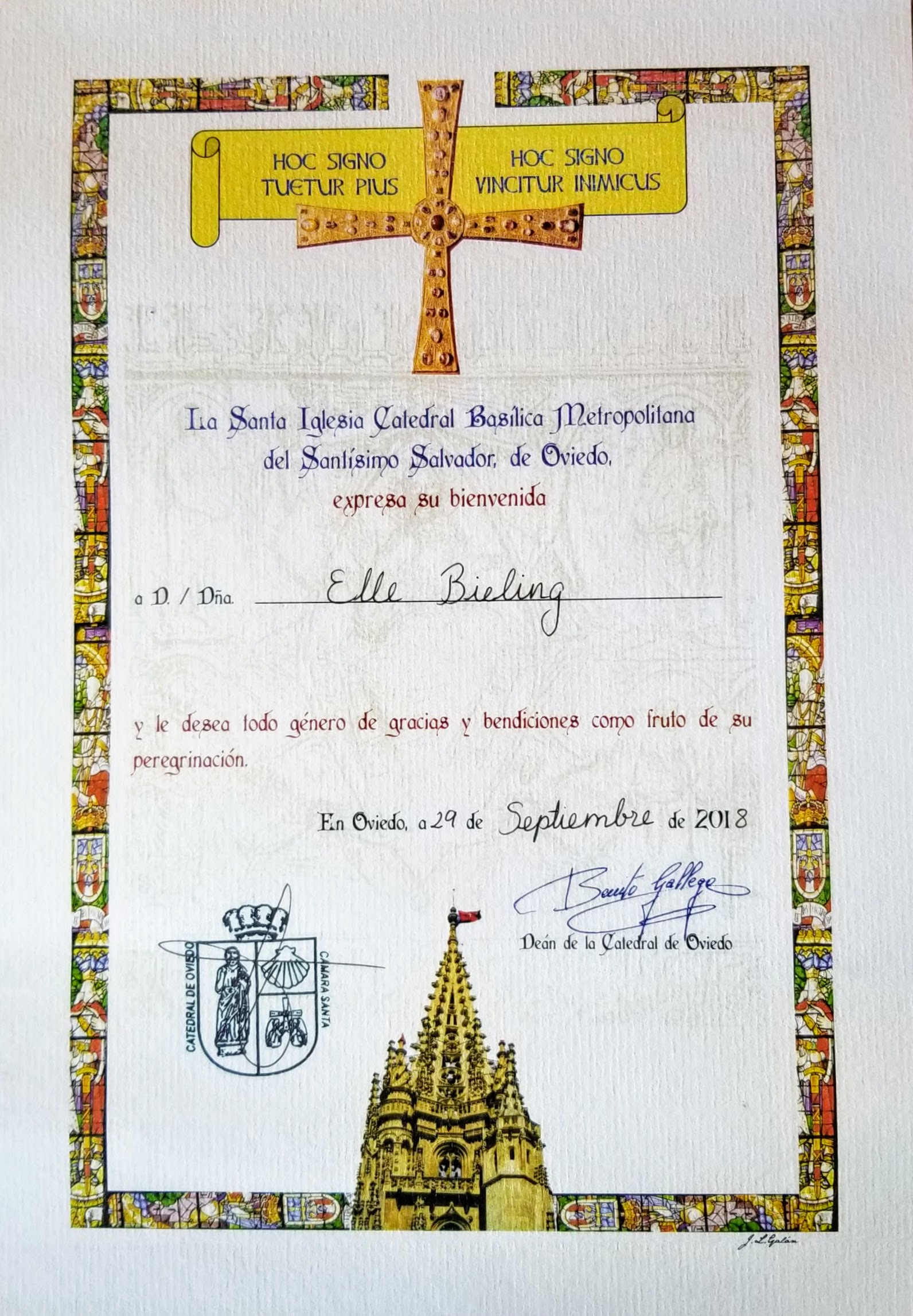 Document of Completion of the San Salvador, the Salvadorana