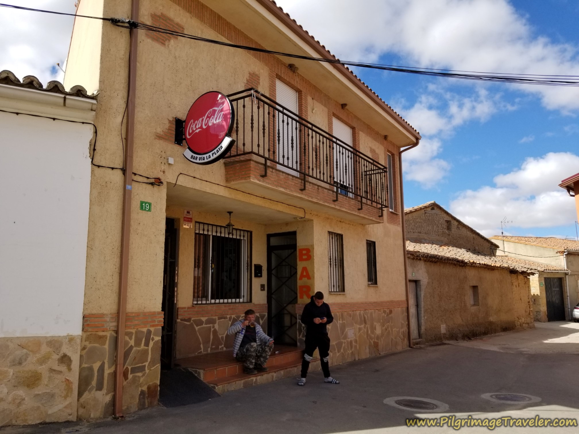 Café Bar Vía de la Plata, at day's end on the Vía de la Plata from Cañedino to Villanueva de Campeán