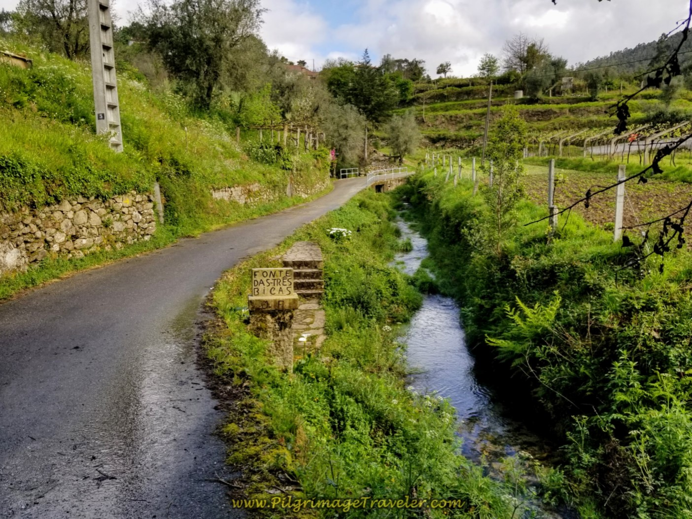 Fonte das Trés Bicas on day eighteen on the Central Route of the Portuguese Camino