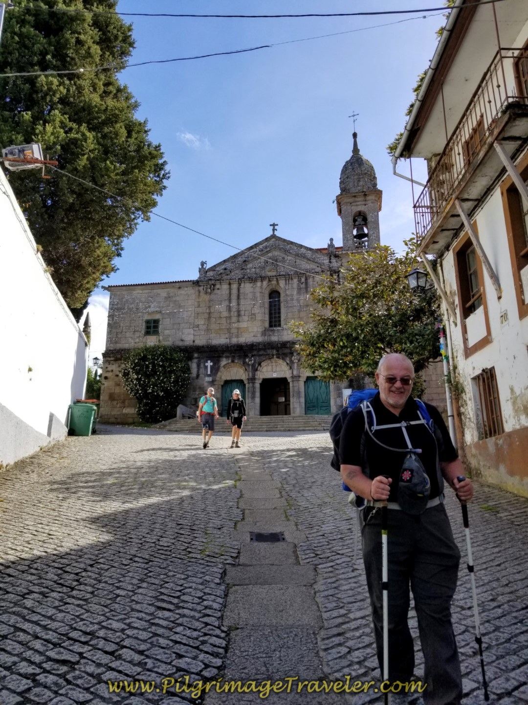 Steve Passes the Santuario de Nosa Señora do Camiño on day four of the English Way
