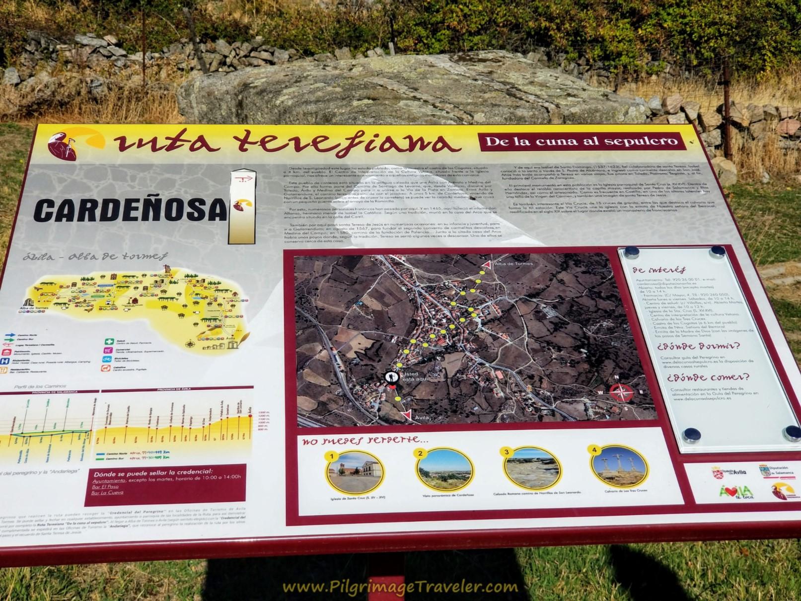 Cardeñosa Information Board