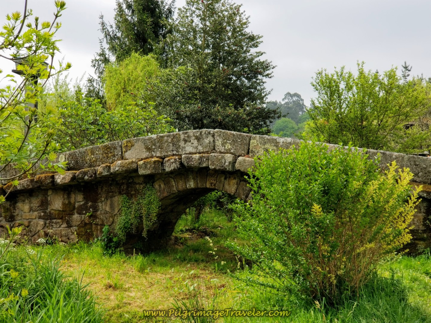 Pass Medieval Bridge on Day One of the Camino Finisterre