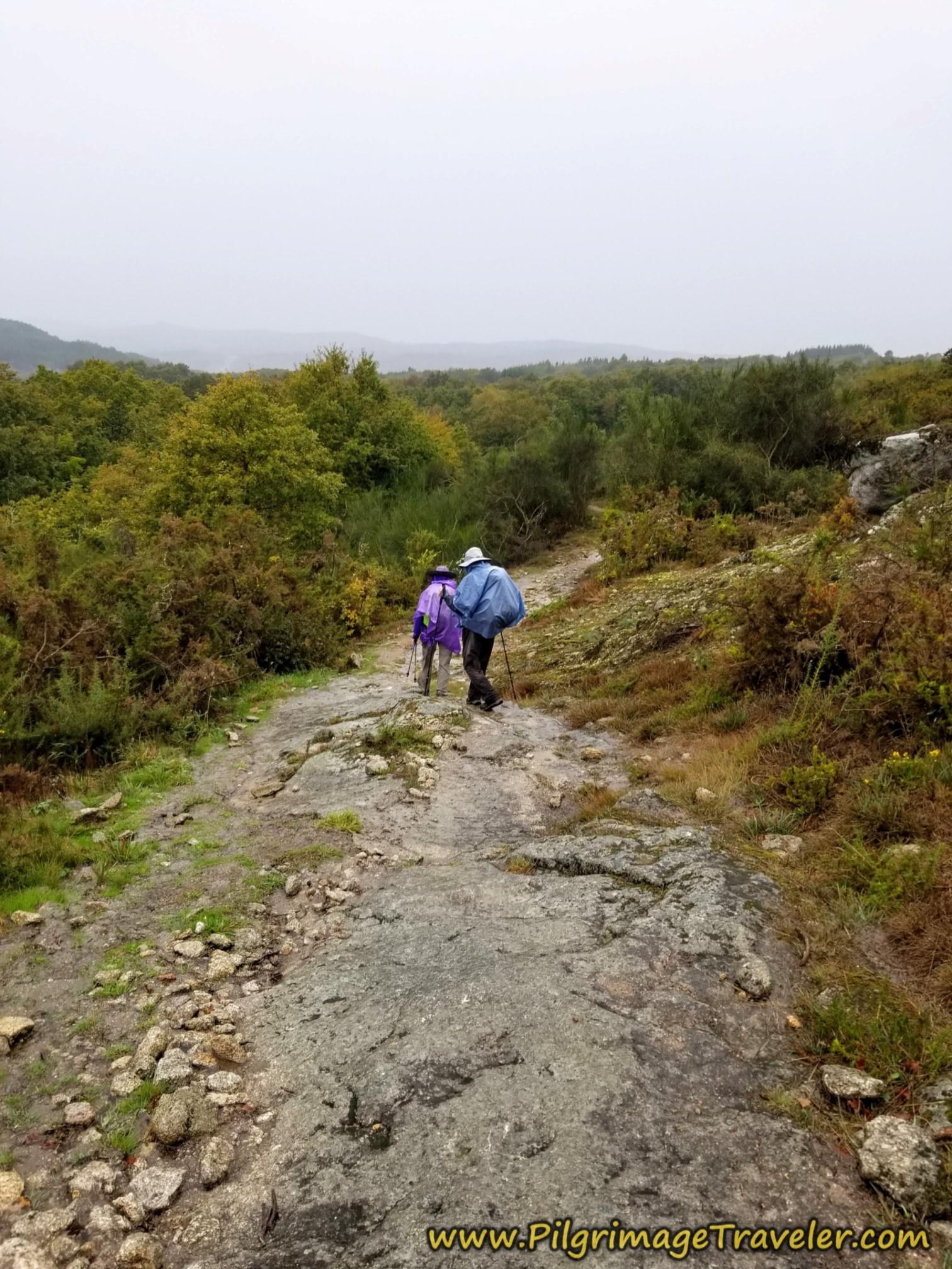 Slippery Rocks, Camino Sanabrés, Vilar de Barrio to Xunqueira de Ambía