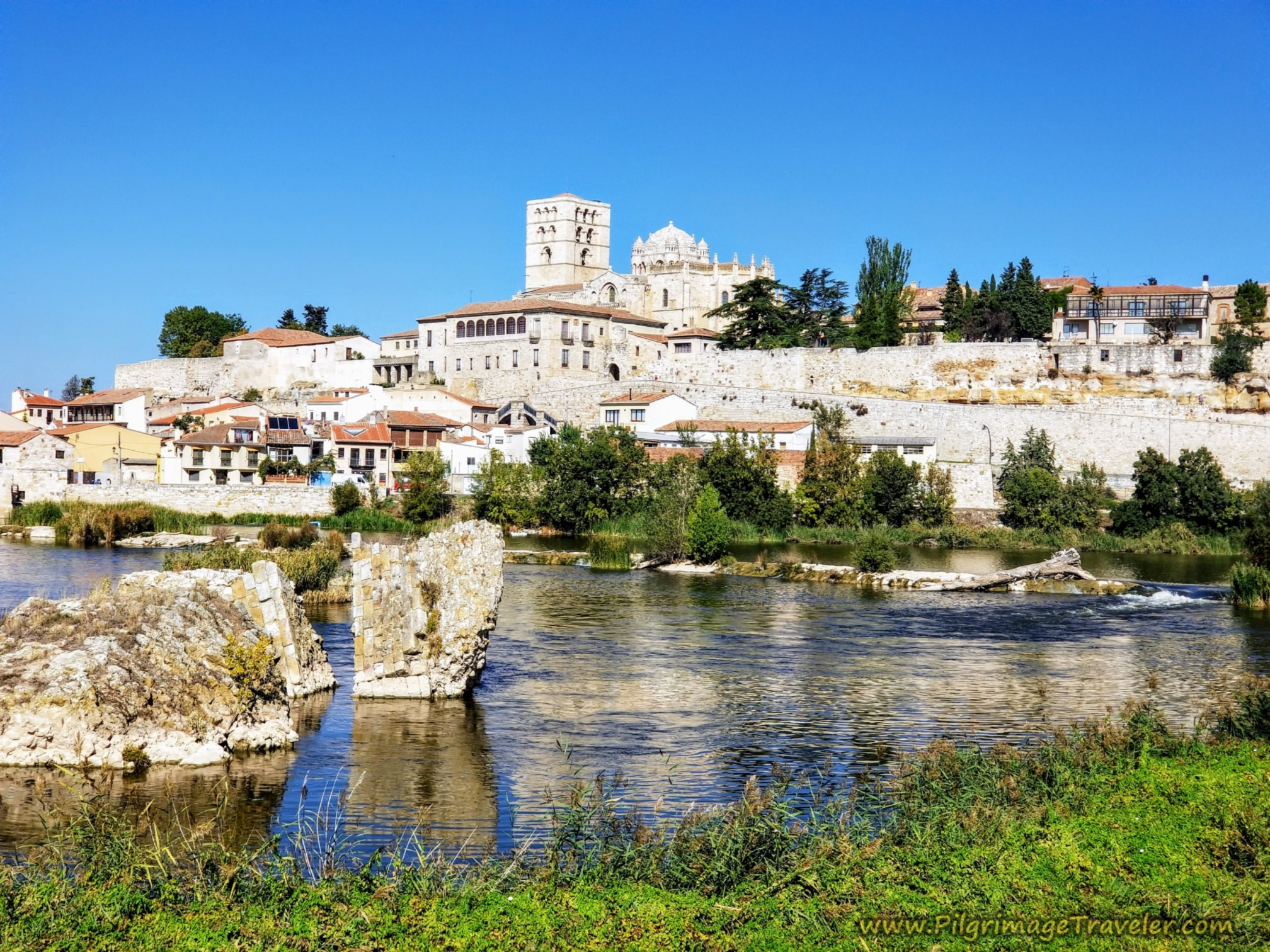 Views of Zamora and Vestiges of Old Roman Bridge