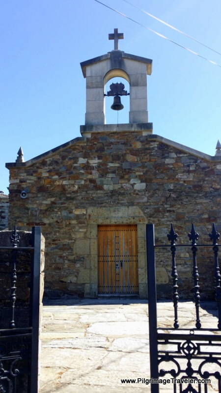 Quaint Church in A Lastra, Galicia, Spain