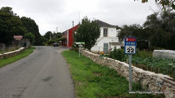 Pena da Galiña Ahead on the Camino Primitivo