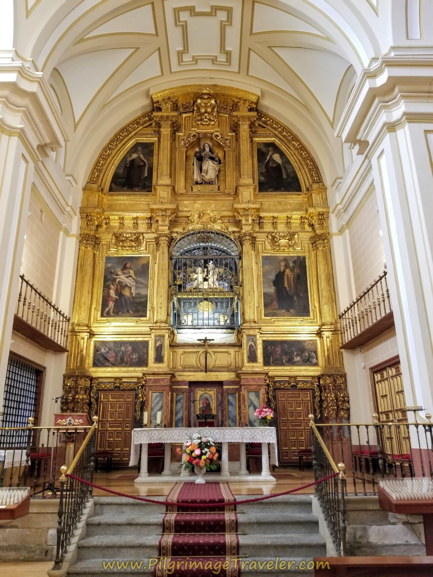 Tomb of St. Teresa on the Altar of the Iglesia de Anunciación, Alba de Tormes