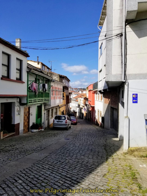 Rúa Santuario de Nosa Señora do Camiño in Betanzos, on day four of the English Way