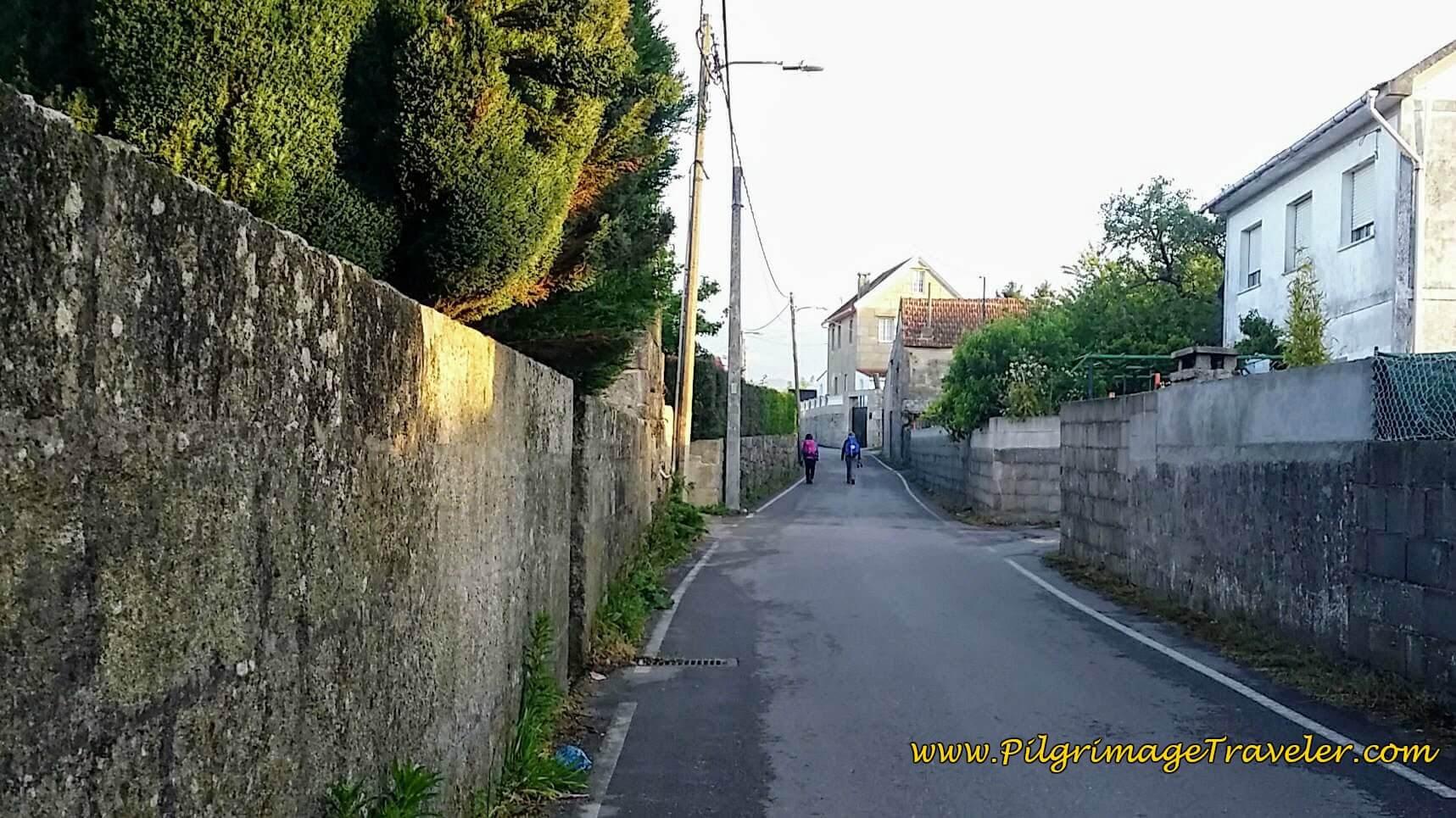 Leaving Redondela on the Camiño do Esteiro, day twenty-two on the Camino Portugués