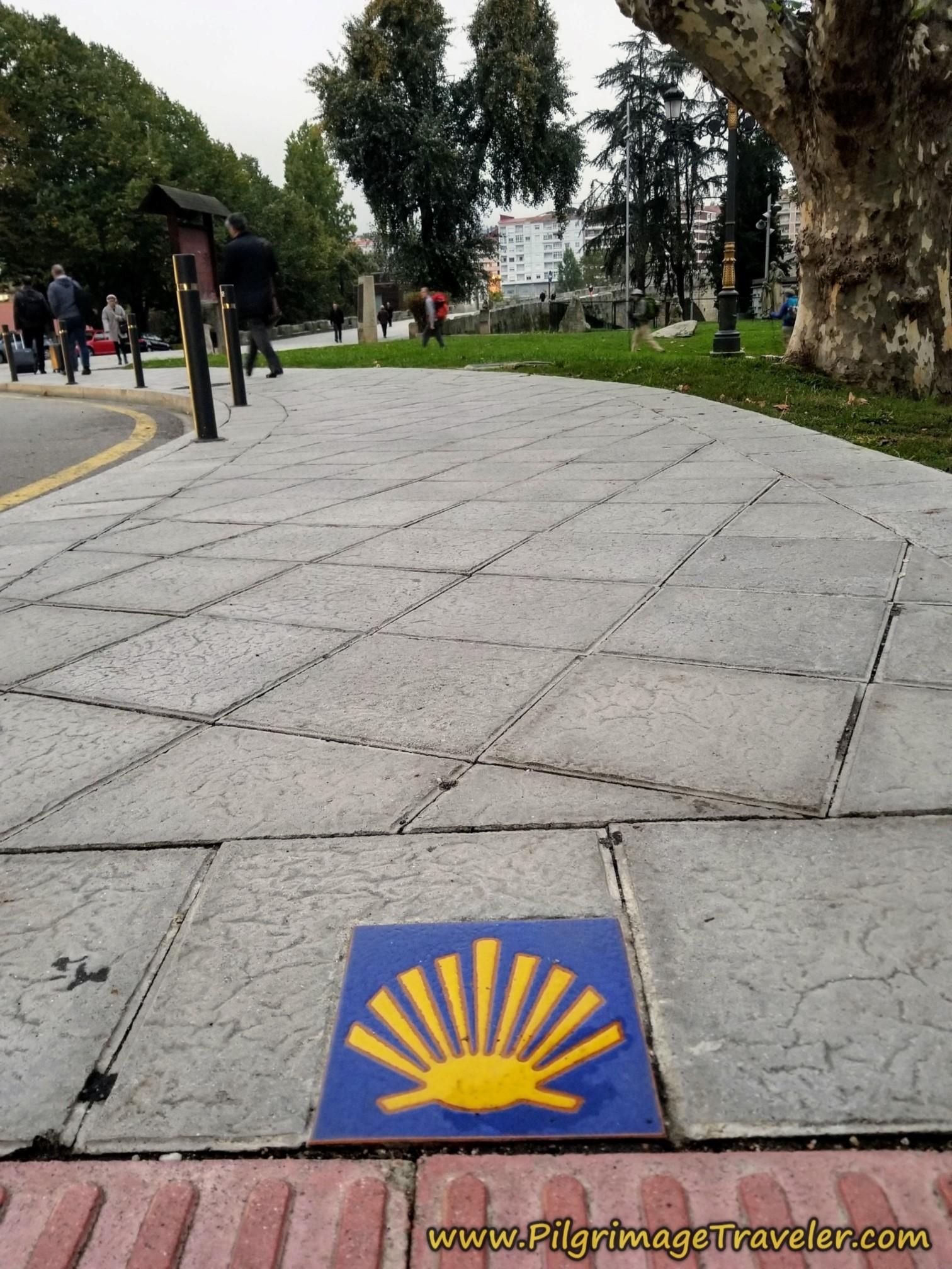 Street Waymark by the College, Before the Roman Bridge